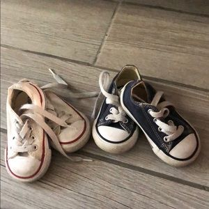 Two Pairs Size 4 Baby Converse